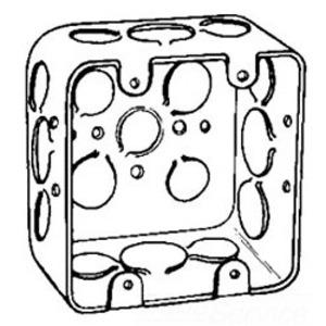 "Cooper Crouse-Hinds TP395 4"" Square Box, Metallic, 2-1/8"" Deep"
