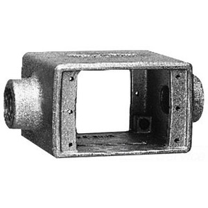 """Cooper Crouse-Hinds FSC252 FS Device Box, 1-Gang, Feed-Thru, Type FSC, 3/4"""", Malleable"""