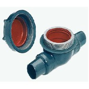 "Plasti-Bond PREYS5 Sealing Fitting, Female, Vertical/Horizontal, Size: 1-1/2"", PVC Coated"