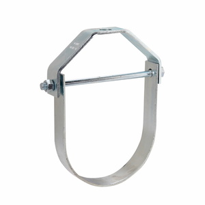 "Cooper B-Line B3100-2ZN Pipe Hanger, Pipe Size: 2"", Rod Size: 3/8-16, Material: Steel/Zinc"