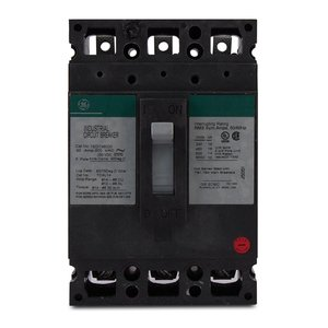 GE Industrial THED136150 Breaker, 150A, 600VAC, 25kAIC, 3P, Molded Case, Thermal Magnetic
