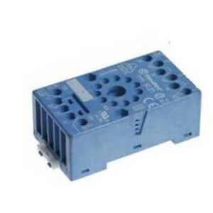 Finder Relays 90.20 Socket, 11-Pin, Box Clamp Terminal, for #60.12 Relay, Blue