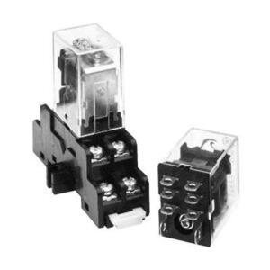 GE CR420NA4 Relay Socket, Plug In , 8-Blade, 2PDT, Type N