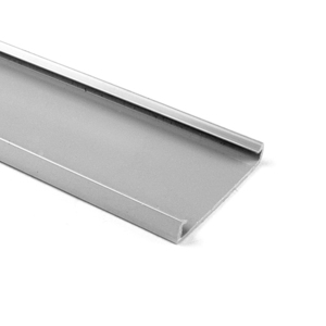 """HellermannTyton 181-93008 Wire Duct Cover, 3"""" Wide, 6' Length, Gray"""