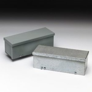 "Cooper B-Line 6660-GRT Trough, Type 3R, Screw Cover, 6"" x 6"" x 5', Steel, Gray, NO Knockouts"