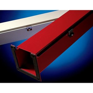"""Wiremold C1250 Lay-In NEMA Type 1 Hinged-Cover Wireway, 2-1/2"""" x 2-1/2"""" x 120"""", Steel, Gray"""