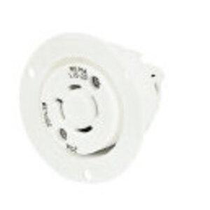 Hubbell-Bryant 71430MB Lkg Flg-inlt, 30a 125/250v, L14-30p,wh