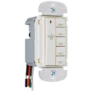 Wattstopper DRD9-A In-Wall Fan Speed Controller, 1.5A, 120V, Almond