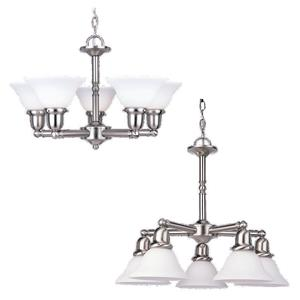 Sea Gull 31061-962 Chandelier, 5-Light, 100W, Brushed Nickel