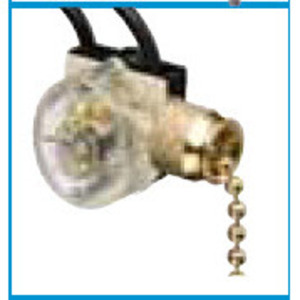 Ideal 774032 Pull Chain Switch, SPST, On-Off, Brass Chain