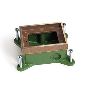 Lew SH-1101-58 1 Gang Shallow Floor Box