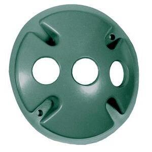 RAB C103VG Weatherproof Cover Round 3 Holes Verde Green
