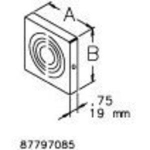 "Hoffman F66GCPNKGV Wireway Closure Plate, 6"" x 6"", Type 1, Galvanized, No KOs"