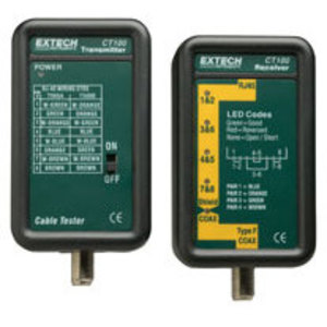 Extech CT100 Continuity Tester for Twisted Pair, Type F Coaxial Cables