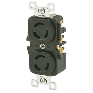 Hubbell-Bryant 7580DR BRY 7580DR DUPLEX LOCKING15A/120V NON GROUNDING