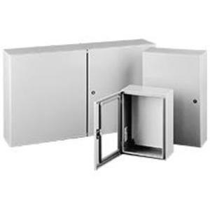 "Hoffman CSD303010LG Enclosure, NEMA 4/12, Hinge Cover, 30"" x 30"" x 10"", Steel"
