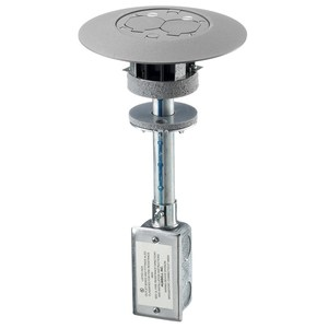 "Hubbell-Kellems PT7FSDGYA Poke-Thru Device, Diameter: 3"", Non-Metallic with Aluminum Flange"