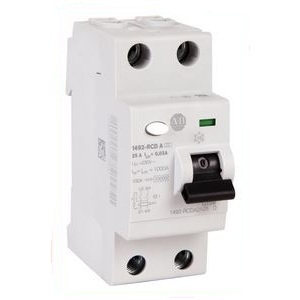 Allen-Bradley 1492-RCDA2A25 Breaker, Residual Current, 2P, 25A, 30mA Sensitivity