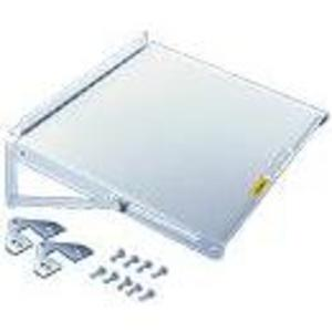 Hoffman PSHDM Rack, Folding Shelf, Door Mount, fits 600-1000mm, 2 Position, Gray