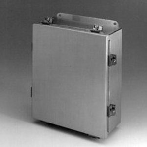 "Cooper B-Line 1084-4XSLC Enclosure; Type: JIC, NEMA 4X, Lift-Off Cover, 10 x 8 x 4"", Steel"
