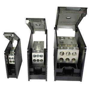 Burndy BDBLHC115001 Power Distribution Block, 1-Pole, 4 AWG - 500 MCM Run/Tap