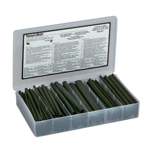"Thomas & Betts HS-KIT Heat Shrink Kit, Thin-Wall, 6"" Lengths, Assortment of Sizes"