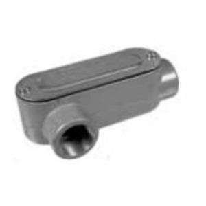 "Topaz LR1CG Conduit Body, Type LR, 1/2"", Cover/Gasket, Aluminum"