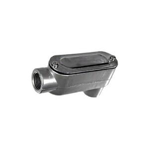 """Topaz LB1CG Conduit Body, Type: LB, Size: 1/2"""", Cover/Gasket, Aluminum"""