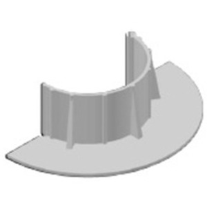 "Chemlink F1354GR E-CURB Diameter Round, 4"", Gray"