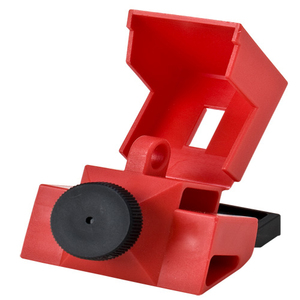 Brady 65397 Breaker, Lock-Out, Clamp On, 2-3P, Red, 480/600VAC, Thumbscrew