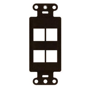 ON-Q WP3414-BR Decor Outlet Strap 4 Port Br (m10)