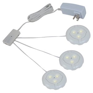 Sea Gull 98863SW-15 3 LED Disk Light Kit, White