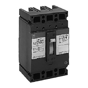 GE Industrial TED134YT100 Breaker, 100A, 480VAC, 250VDC, 3P, Molded Case, 5kAIC
