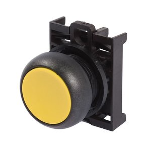 Eaton M22S-D-Y Flush Pushbutton, Yellow, M22