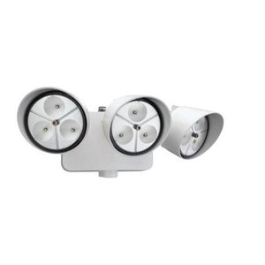 Lithonia Lighting OFLR9LN120PWHM2 LED Floodlight, 3-Head, 9-LED, 32.5W, 120V, White