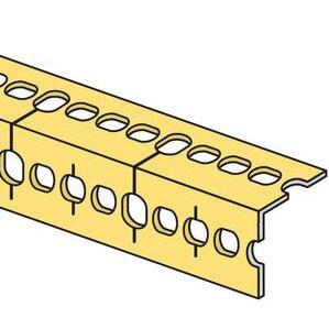 "Kindorf RA-160-10 Slotted Angle, Steel, Zinc Plated, 14 Gauge, 1-5/8"" x 1-5/8"" x 10'"