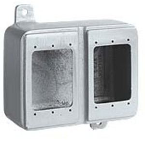 Hubbell-Killark 2FDQ Device Box 2gang Deep Al