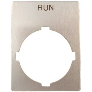 ABB SK-615-552-29 22mm Legend Plate, Run, Modular