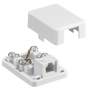 Hubbell-Premise NS760W Telephone, Surface Mount, 1 Port, Jack, 6P4C, White