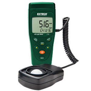 "Extech LT45 LED Light Meter, LCD Display, w/ 59"" Cable Extension"