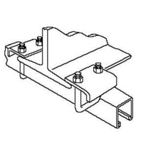 """Kindorf E-760-2 Beam Clamp, 3-1/4"""", Hex Nut and U-Bolt Included, Steel"""