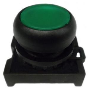 Eaton M22S-D-G Flush Pushbutton, Green, M22