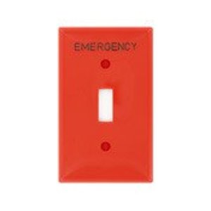 Leviton 80701-RE Toggle Switch Wallplate, 1-Gang, Nylon, REd