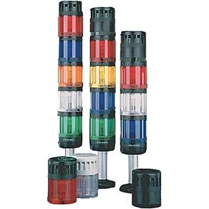 Allen-Bradley 855T-B24BR5 Control Tower Stack Light, Size: 70mm, Black Housing, 24V AC/DC