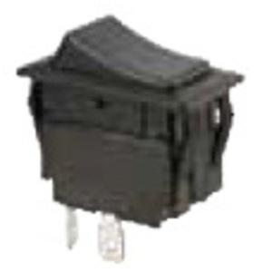 Ideal 774045 Rocker Switch, SPST, On-Off, Black, 20A