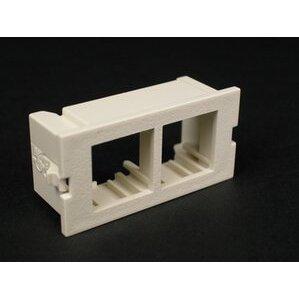 Wiremold CM2-U2NOR Dual Unloaded Flushmount Module, Non-Metallic, Ivory