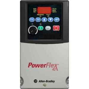 Allen-Bradley 22B-V2P3N104 Drive, PowerFlex 40, 120VAC, 1PH, 2.3A, 0.4KW, 0.5HP, No Filter