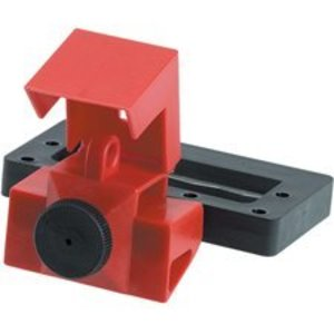 Brady 65321 Breaker, Lock-Out, Clamp On, 2-3P, Red, 480/600VAC, Thumbscrew