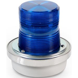Edwards 92B-N5 Beacon, Type: Xenon Flashing, 120V AC, 0.1A, Blue, Non-Metallic