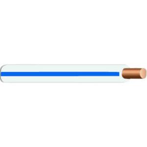 Multiple MTW18STR264WHTBLU500RL 18 AWG MTW Stranded Copper, White/Blue Stripe, 500'